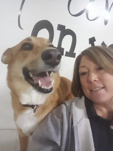 Selfie with a dog :)